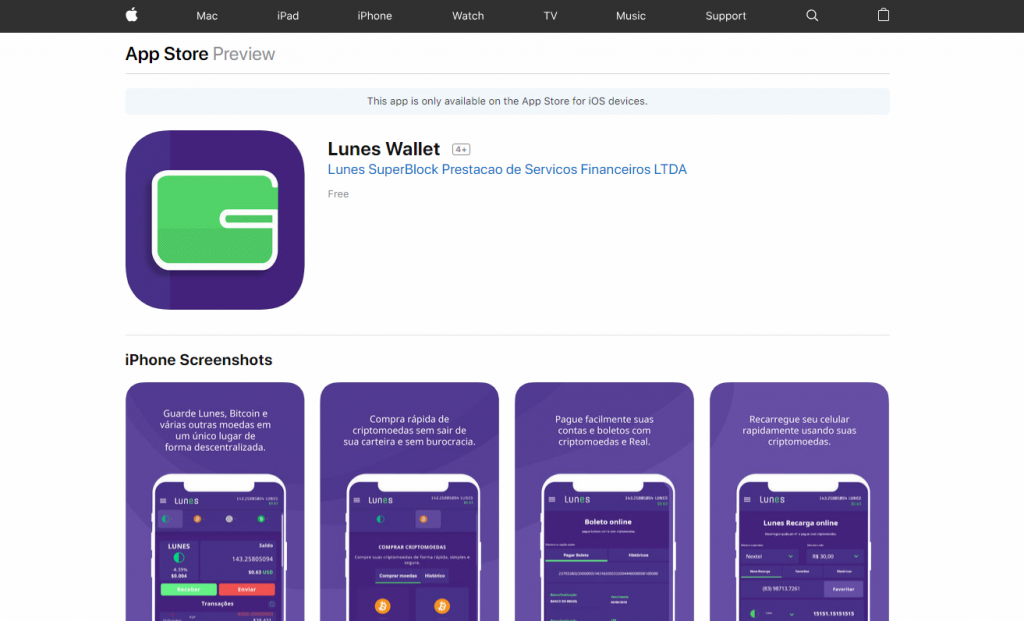 Lunes-wallet-iOS-iPhone-bitcoin wallet